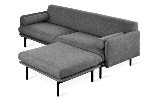 Foundry Bi-Sectional by Gus Modern - Andorra Pewter Fabric.