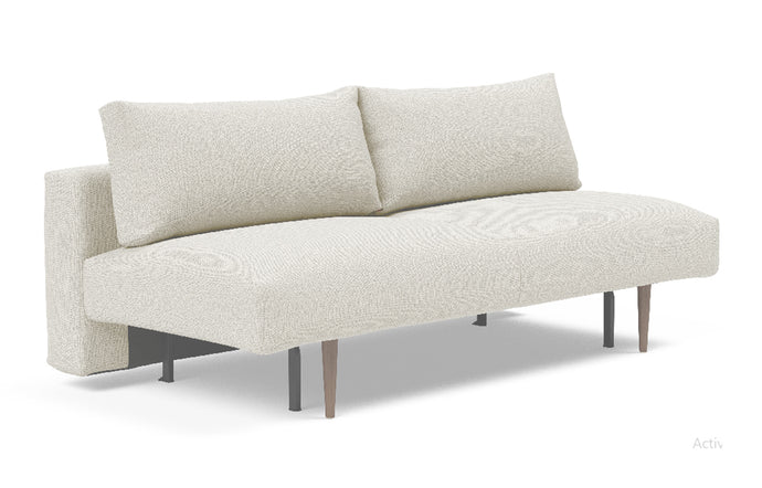 Frode Dark Styletto Sofa Bed by Innovation - 527 Mixed Dance Natural (stocked).