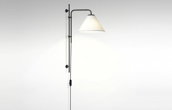 Funiculi A Farbic Wall Lamp by Marset - White Fabric Shade.