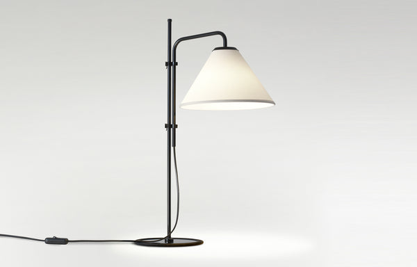 Funiculi S Farbic Table Lamp by Marset - White Fabric Shade.