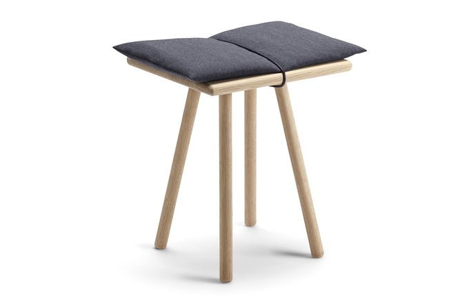 Georg Stool by Skagerak - Natural Oak Wood/Dark Grey Wool.