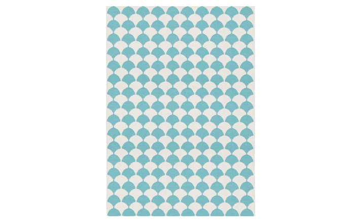 Gerda Pool Blue Rug by Brita.