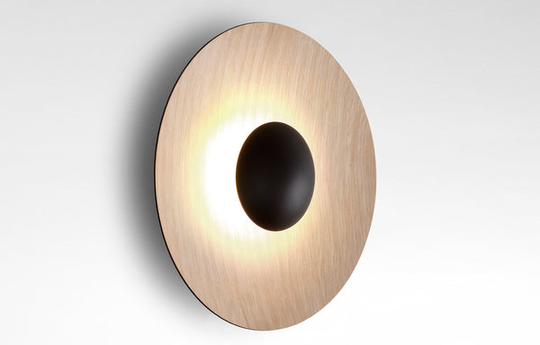 Ginger Dual Dimmable Wall Sconce by Marset - Oak/Oak.