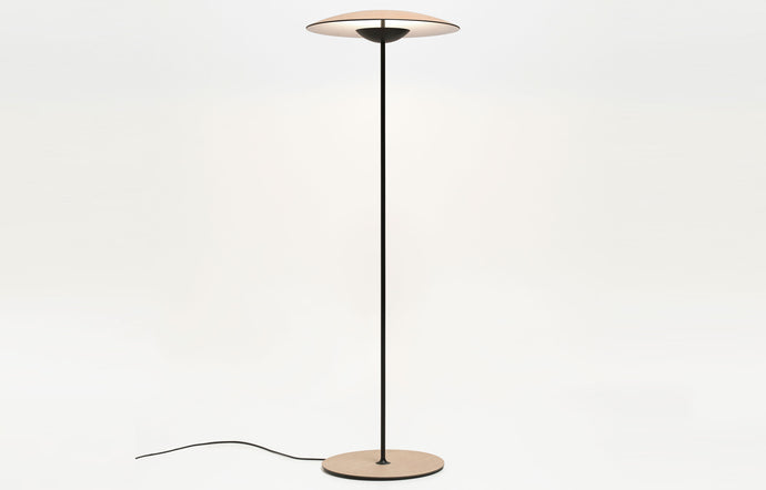 Ginger P Floor Lamp by Marset - Oak/White.