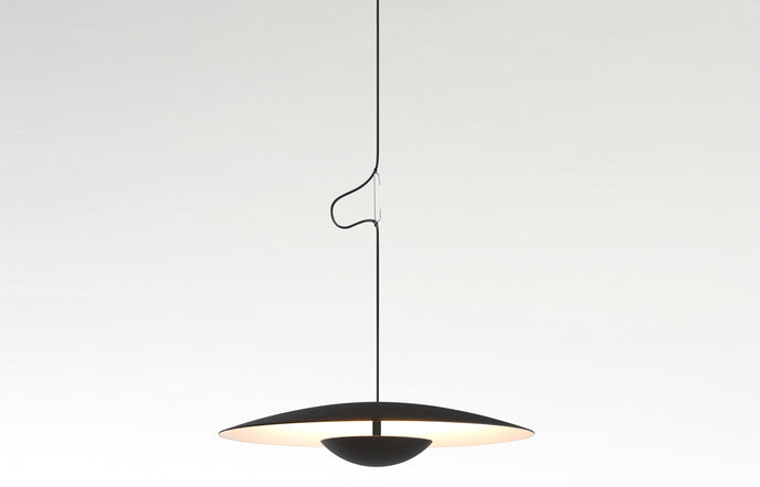 Ginger Pendant Light by Marset - Black/White.