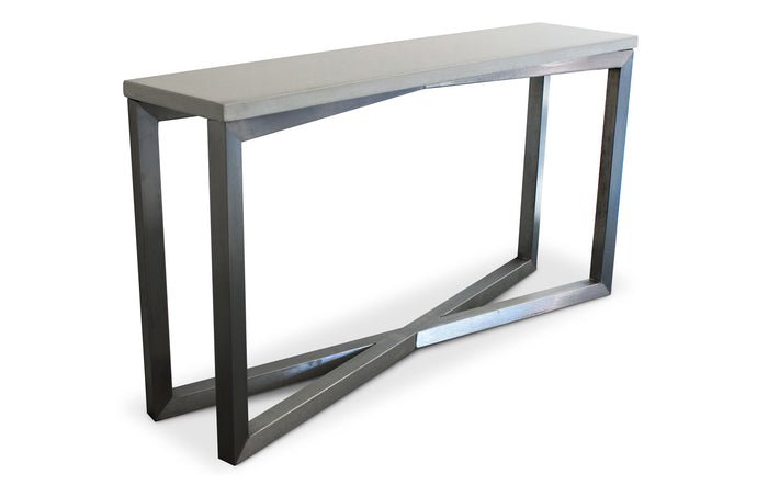 James De Wulf Gooding Console Table by De Wulf - Natural Tone Concrete.