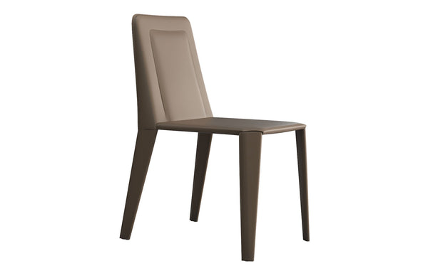 Grosseto Dining Chair by Modloft -  Dove Gray Reclaimed Leather