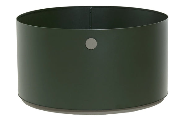 Grow Large Planter by Cane-line - Dark Green/Taupe Aluminium.