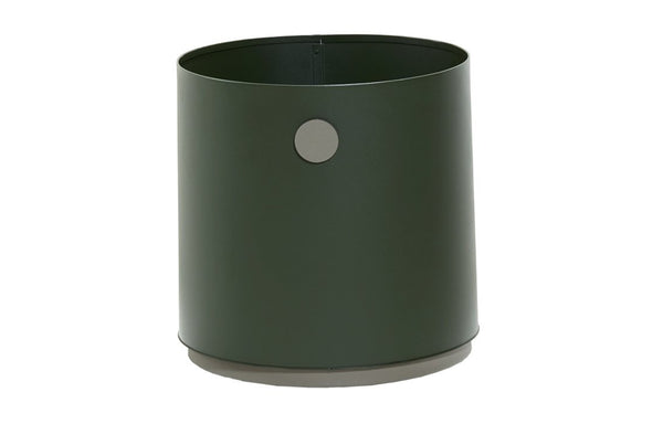 Grow Small Planter by Cane-line - Dark Green/Taupe Aluminium.
