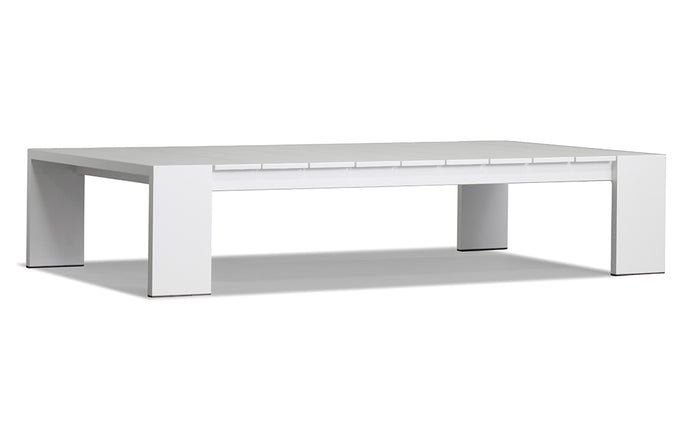 Hayman Coffee Table by Harbour - White Powder Coated Aluminum.