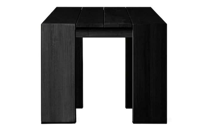 Hayman Teak Side Table by Harbour - Burnt Charcoal Teak Wood.