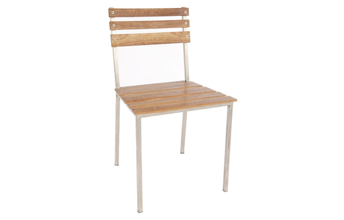 James De Wulf Heirloom Patio Dining Chair by De Wulf - Natural Tone Concrete.