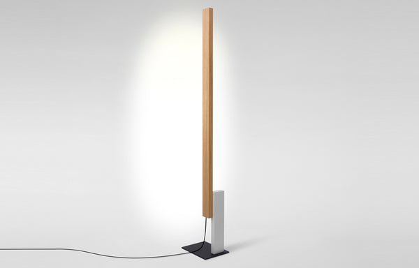 High Line Floor Lamp by Marset - Oak-White.