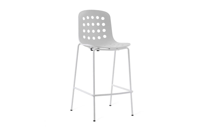 Holi Counter Stool by Toou - Open Shell, White Seat.