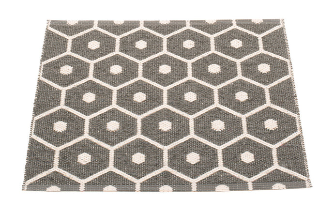 Honey Charcoal & Vanilla Runner Rug by pappelina.