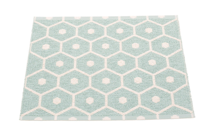 Honey Pale Turquoise & Vanilla Runner Rug by Pappelina - 28