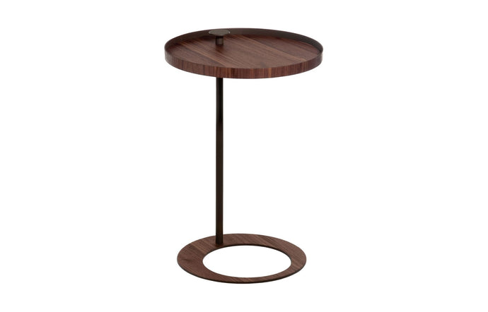 Horatio Side Table by Modloft Black - Walnut
