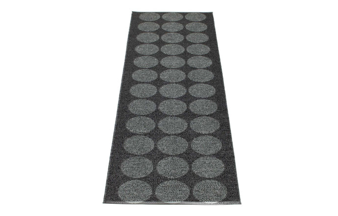 Hugo Metallic Black & Black Runner Rug by Pappelina - 28