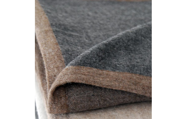 Hugo Revers Grey/Brown Blanket by Area