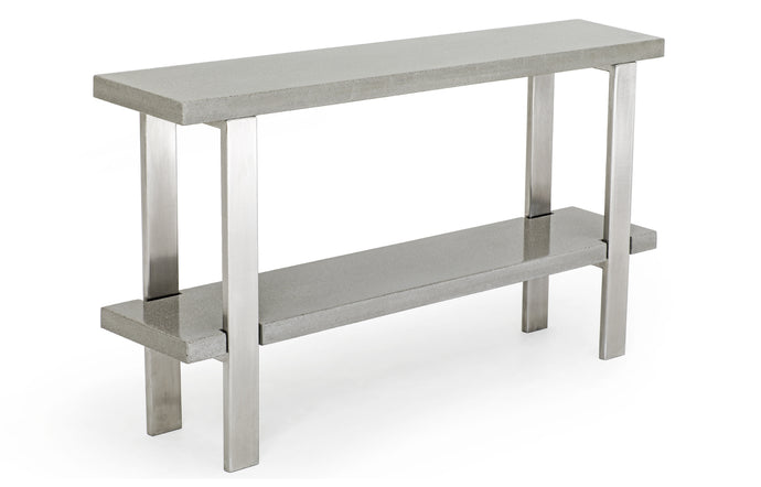 James De Wulf Industrial Console Table by De Wulf - Natural Tone Concrete.