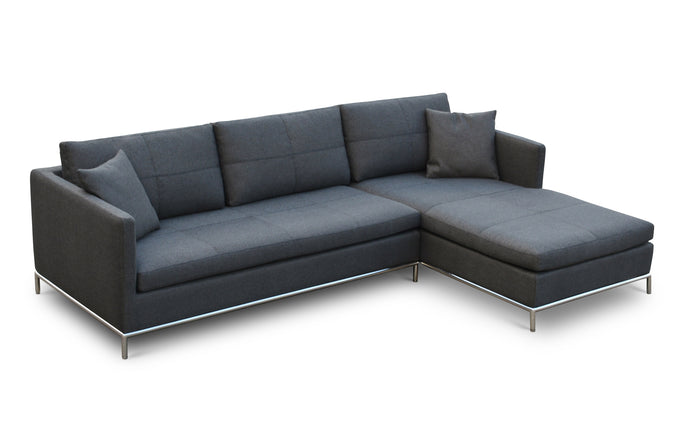 Istanbul Sectional by SohoConcept - Left Hand Face, Black Pepper Fabric