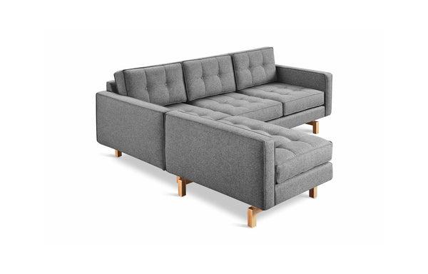 Jane 2 Loft Bi-Sectional by Gus Modern - Parliament Stone, Ash Natural.
