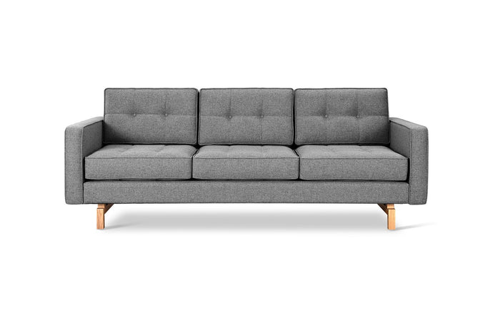Jane 2 Sofa by Gus Modern - Parliament Stone, Ash Natural.