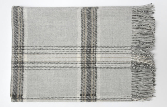 Jasper Soft Grey Throw by Area