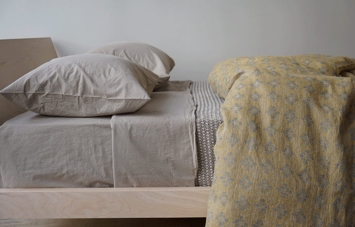 Jules Amber Linen Duvet Cover by Area