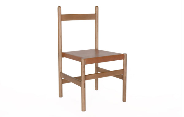Juniper Chair by Sun at Six - Sienna Wood + Umber Leather.