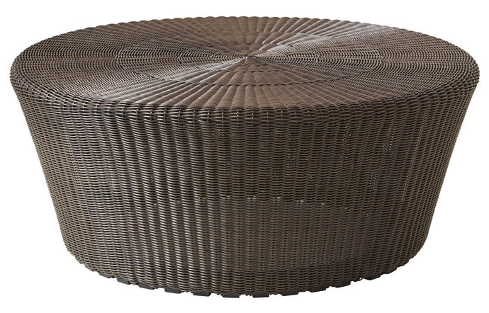 Kingston Large Footstool by Cane-Line - Mocca Fiber Weave, No Cushion.