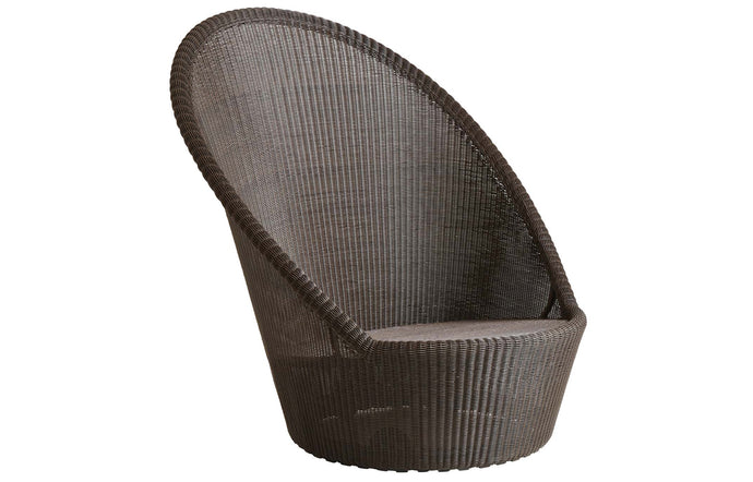 Kingston Sunchair with Wheels by Cane-Line - Mocca Fiber Weave, No Cushion Set.