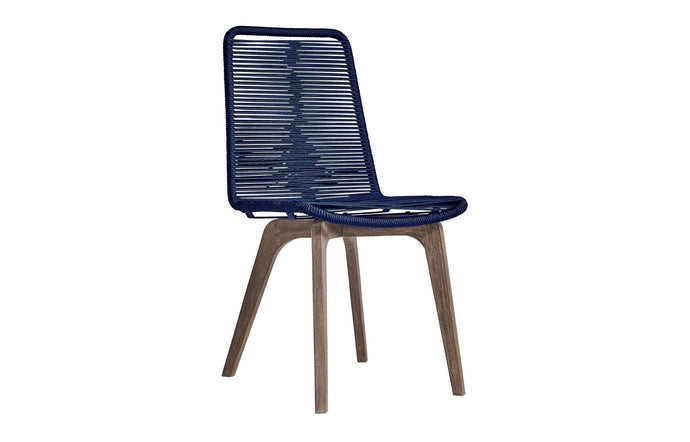 Laced Outdoor Dining Chair by Modloft - Blue Cord