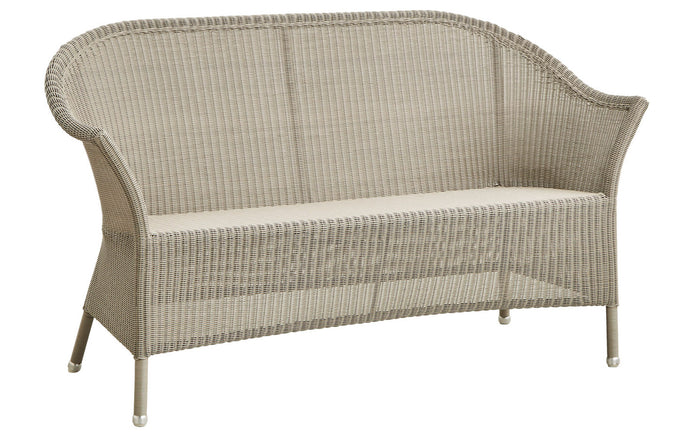 Lansing 2-Seater Sofa by Cane-Line - Taupe Fiber Weave, No Seat/Back Cushion Set.