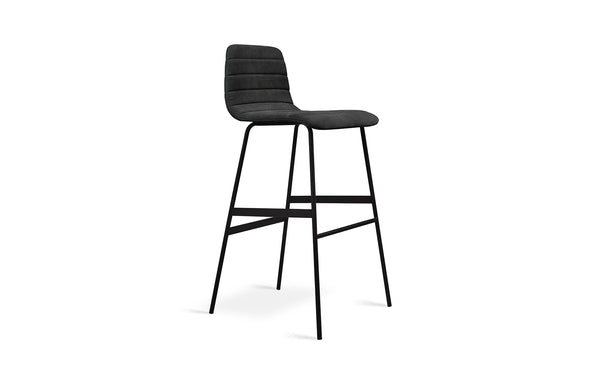Lecture Upholstered Barstool by Gus Modern - Vintage Mineral.