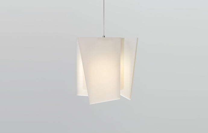 Levis L Pendant by Cerno - Frosted Polymer Shade.