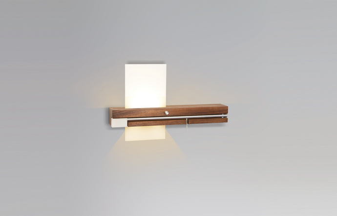Levo LED Wall Sconce / Reading Light by Cerno - Left.