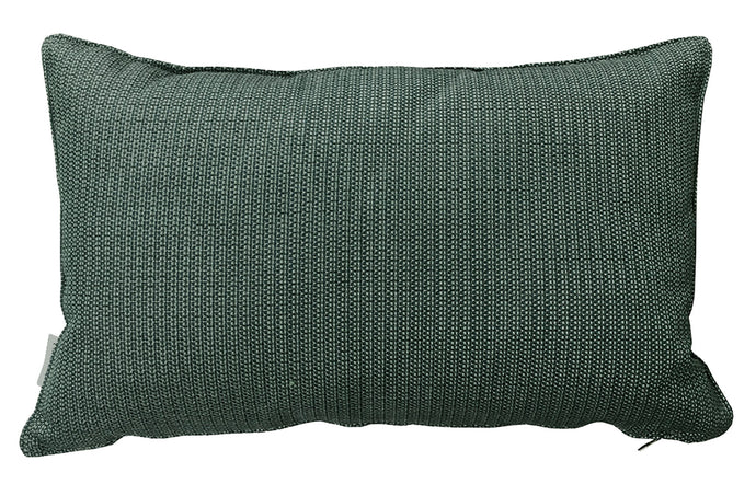 Link Rectangle Scatter Cushion by Cane-Line - Dark Green Dacron Fabric.