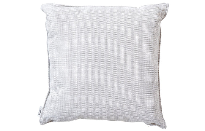 Link Square Scatter Cushion by Cane-Line - Square/White Grey Dacron Fabric.