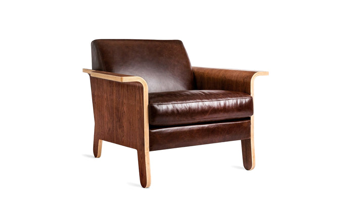 Lodge Chair by Gus Modern - Saddle Brown Leather.