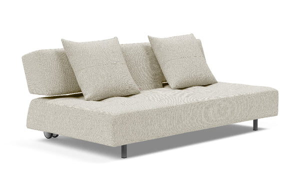 Long Horn D.E. Sofa Bed by Innovation - 527 Mixed Dance Natural (stocked).