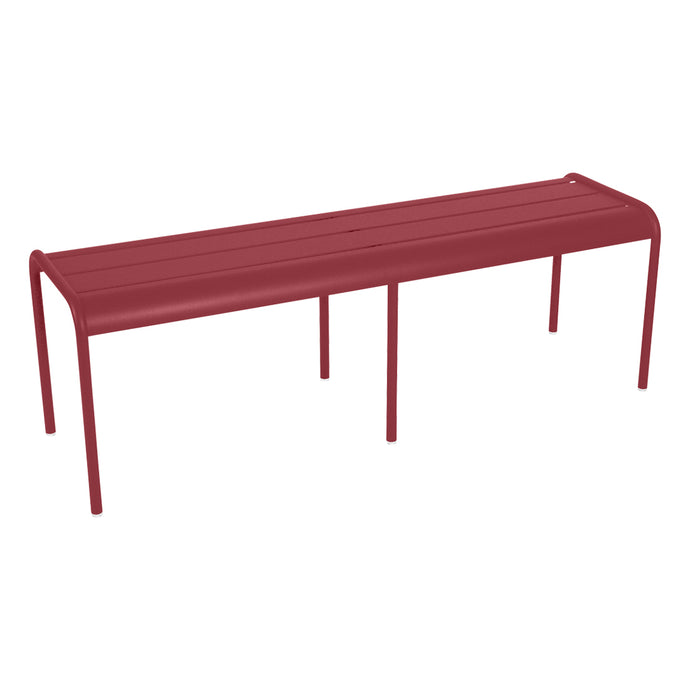Luxembourg 3 Seater Bench w/o Back by Fermob - Chili (matte textured)