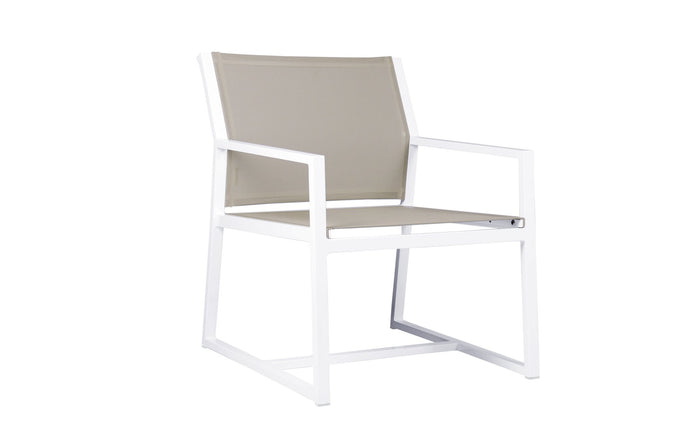 Allux Casual Armchair by Mamagreen - Batyline Light Taupe Standard