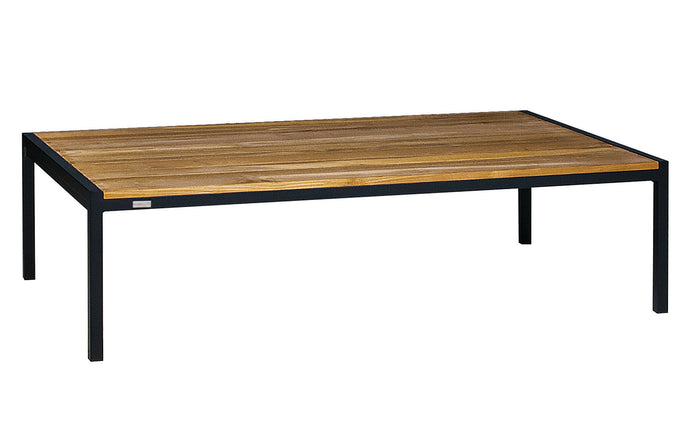 Jaydu Teak Coffee Table by Mamagreen - Ink Black Aluminum.