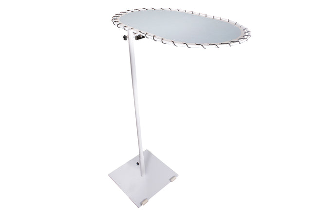 Sombrero Personal Medium Shade with Wheels by Mamagreen - White Powder Coated Stainless Steel, White Sunbrella Shade.
