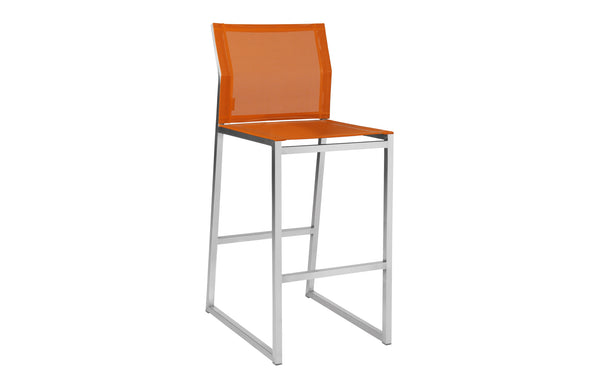 Zix Bar Chair by Mamagreen - Orange Standard Batyline.