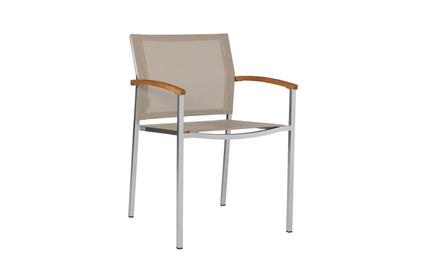 Zix Stacking Armchair by Mamagreen - Light Taupe Standard Batyline.