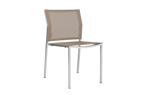 Zix Stacking Side Chair by Mamagreen - Light Taupe Standard Batyline.