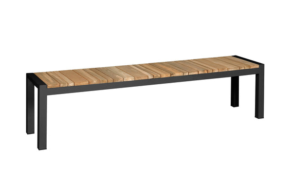 Zudu Bench by Mamagreen - Ink Black Aluminum.