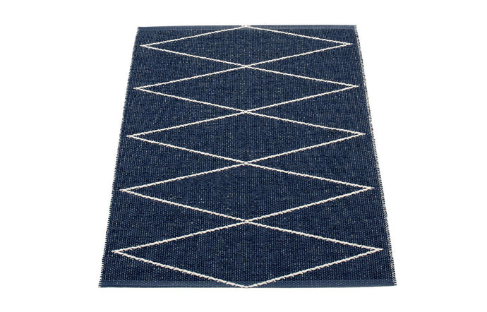 Max Dark Blue Runner Rug by Pappelina - 28